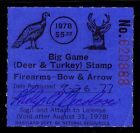 1977 MARYLAND WHITE TAIL DEER TURKEY STAMP USED VF 4000 ESP3990