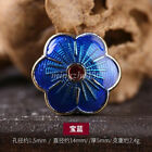 2pc Cloisonne Flat Round Flower Shape Metal Bead Loose Spacer Jewelry Diy Making