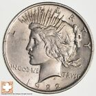 Choice AU+ 1922 Peace Silver Dollar 90 Silver 902