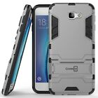 For Galaxy On5 (2016 Only) / J5 Prime Case Armor Kickstand Slim Cover Silver