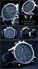 Luxury Time Triple Cavadini Chronograph Watch Series New York in Black NEW