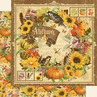 Graphic45 SEASONS AUTUMN 12x12 Dbl Sided Scrapbooking 1pc Paper