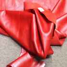 A66 Leather Cow Hide Cowhide Upholstery Craft Fabric Red Partial 25 sq ft