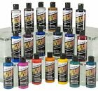 Water Base Airbrush Paint Car Candy Pigment Colors All Set D w 2 Reducer 4oz