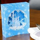 3D Pop Up Ice Castle Snowflake Deer Greeting Holiday Card Merry Christmas Gift