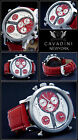 Luxury Triple Time Cavadini Chronograph Watch Series New York in Red NEW