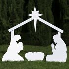 Silhouette Outdoor Nativity Set Holy Family Yard Scene w Standard Crafted Size