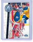 PATRICK ROY 1995-96 BE A PLAYER BAP IN THE CREASE ON CARD AUTOGRAPH AUTO