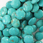 20mm blue turquoise coin gemstone beads 16strand S1