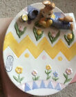 1994 Omnibus Fitz And Floyd Eggspress Hand Painted Easter Egg Boy Bunny Plate