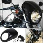Black Front Headlight Fairing Mask For Harley Davidson XL 883 Hugger Sportster