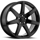 18x8 Black Voxx Divo Wheels 5x120 +40 Fits Buick Regal LaCrosse