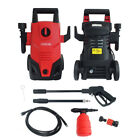 1400W 105BAR HIGH PRESSURE PORTABLE JET POWER WASHER & TURBO LANCE WITH WHEELS