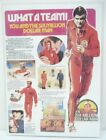 1973 76 Six Million Dollar Man What A Team Product Sheet Copy Laminated