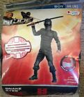 NIP Disguise Boys M 8 GI JOE Snake Eyes Black Muscles Halloween Costume