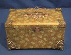 Antique Victorian Glass Lantern Slide Case Storage Box Ornate Decorative Rare!