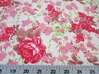 Discount Fabric Quilting Cotton Pink and Tan Floral K305