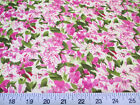 Discount Fabric Cotton Apparel Lavender and Green Floral K307