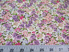 Discount Fabric Quilting Cotton Purple and Pink Springtime Floral K309