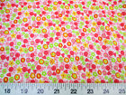 Discount Fabric Quilting Cotton Pink Yellow and Green Floral K310