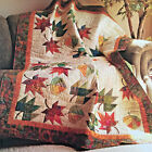 FALLING LEAVES VINTAGE QUILT PATTERN AUTUMN FALL PAPER FOUNDATION PIECING 2 SZS