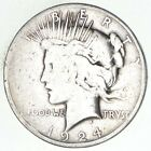 Early 1924 Peace Silver Dollar 90 US Coin 215
