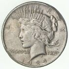 Early 1924 Peace Silver Dollar 90 US Coin 224