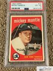1959 Topps #10 Mickey Mantle PSA VG-EX 4, *SEWALL*