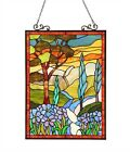 LAST ONE THIS PRICE Tiffany Style Stained Glass Window Panel Floral 18