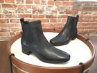 H by Halston Black Leather Alison Gored Chelsea Mod Ankle Boot NEW