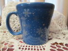 Fiesta Ware LAPIS Blue SNOWFLAKE PATTERN Tapered Mug  NEW Macy's Exclusive  NWT