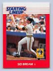 1988  SID BREAM - Kenner Starting Lineup Card - PITTSBURGH PIRATES - SLU