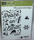 Stampin Up Retired Clear Mount Stamp Set Natures Natures Peace NEW