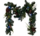 ED On Air 6' Lit Pinecone Garland by Ellen DeGeneres *NEW*