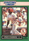 1989 Kenner Starting Lineup Cards #27 Vince Coleman