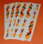Vintage 1994 MRS GROSSMANS Stickers Scrapbook Lot Thanksgiving AUTUMN BORDER