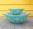 Pyrex Balloons Chip and Dip Bowls Cinderella Glass Mixing Bowls 1958 Promotional