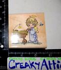 PRECIOUS MOMENTS GODS BLESSINGS JESUS ANGEL RUBBER STAMP STAMPENDOUS UF002