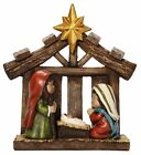Resin Christmas Nativity Scene w Creche Holy Family Decor 85 H NEW X17573