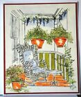 Wisteria Retired U get photo  2 LKexamples Art Impressions Rubber Stamps
