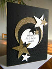 CARD KIT Set of 4 Handmade CHEERS TO A NEW YEAR Greeting Cards Gold Stars