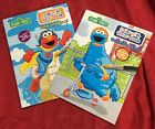 Lot Of 2 Sesame Street Paint With Water Books Elmo Cookie Monster Tear Out Pages