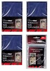 Ultra Pro Tobacco Top Loaders lot of 75 w 100 sleeves NEW Toploaders