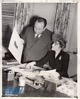 Alfred Hitchcock Joan Fontaine Suspicion VINTAGE Photo candid on the set