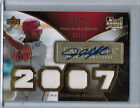2007 Exquisite Collection Rookie Gold JUSTIN UPTON Autograph Jersey 84 99 (5980)