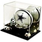 Deluxe UV Protected Mini Football Helmet Display Case w Mirror Back - Brand New