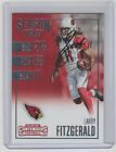 LARRY FITZGERALD Hand Signed 2016 Contenders Football #15 Autograph ON CARD AUTO