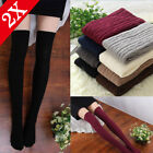 Lots Women Cable Knit Extra Long Boot Socks Over Knee Thigh High Warm Stocking