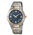 Casio EF106SG-2AV, Edifice Watch, 2-Tone Stainless Steel Band, Date, Blue Dial