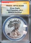 2012 S REVERSE PROOF AMERICAN EAGLE 1 OZ SILVER DOLLAR COIN ANACS RP 70 DCAM